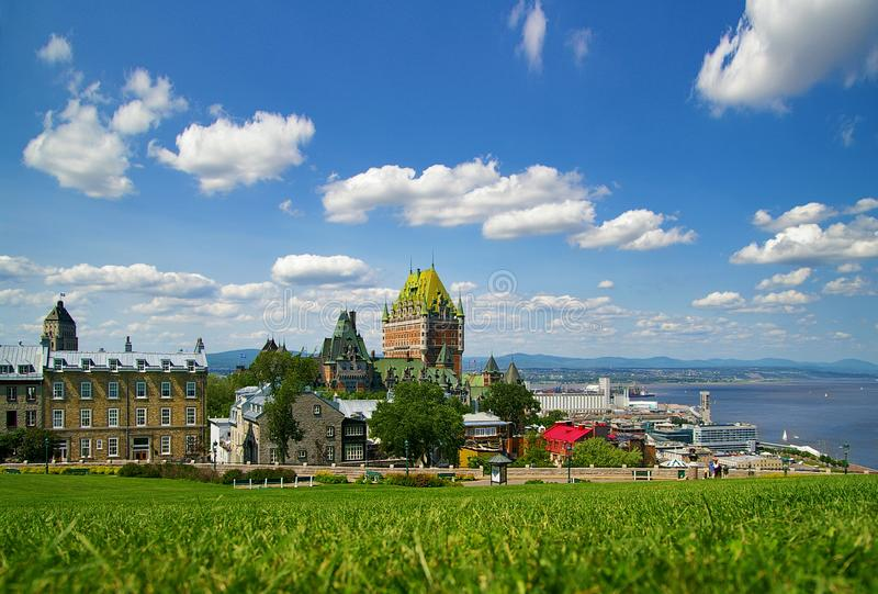Quebec City Canada. View of Quebec City Canada historic district stock images