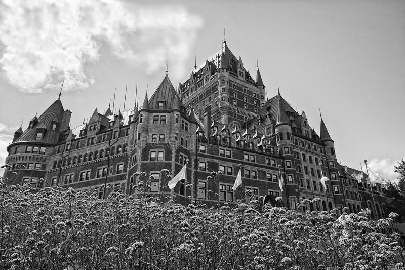 Download quebec city castle in black and white stock photo image of canadian national