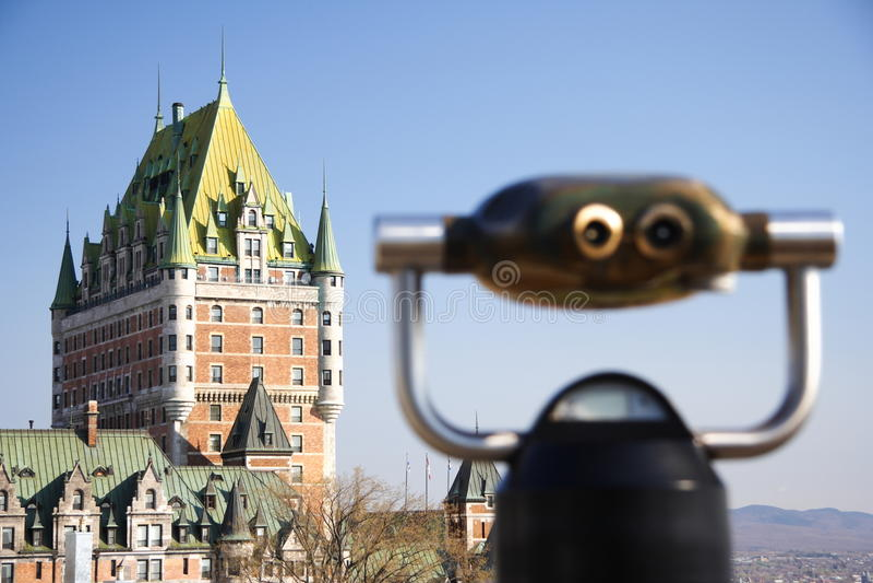 Quebec City : Château Frontenac photo stock