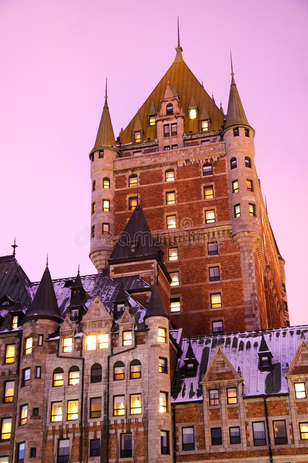 Quebec City, Chateau Frontenac stock images