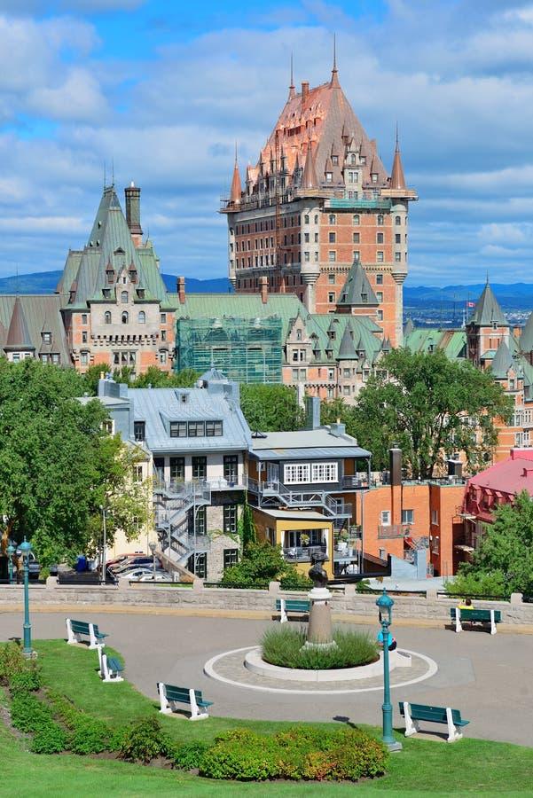 Quebec City cityscape royaltyfri foto
