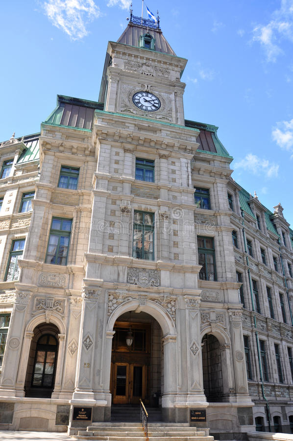 Quebec City Court House, Canada. Quebec City Court House is a Second Empire style architecture located at Old Quebec City, Quebec, Canada. Historic District of stock photos