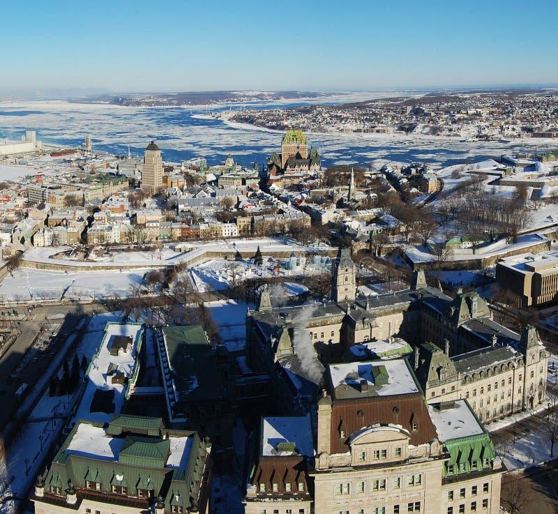 Quebec City en hiver, Canada photos libres de droits