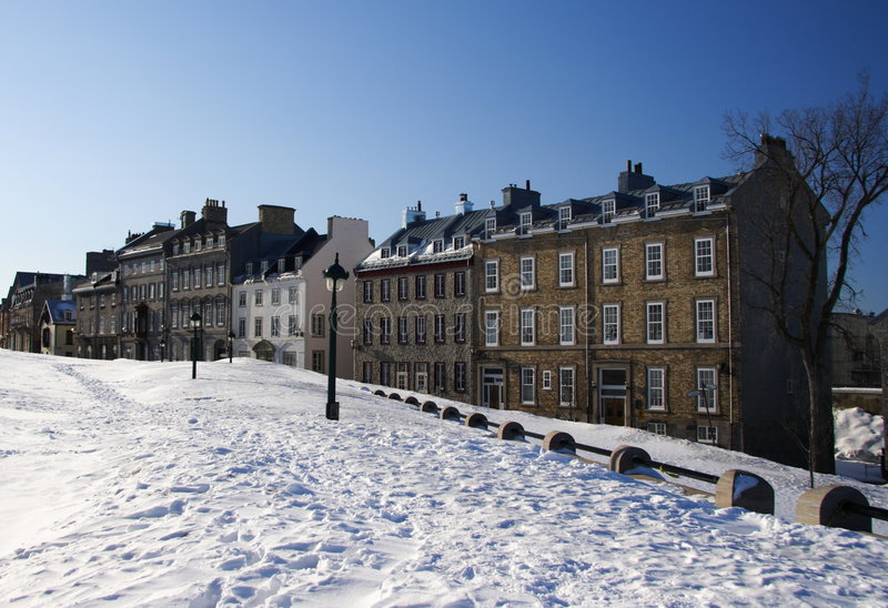 Quebec City houses royalty free stock image