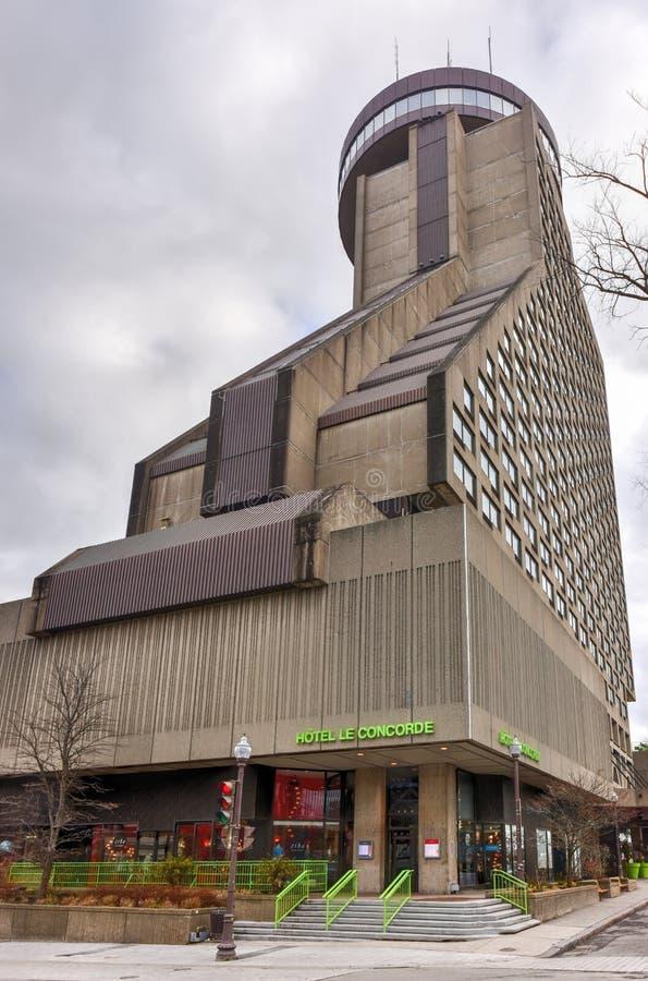 Quebec City Loews Hotell Le Concorde arkivbilder