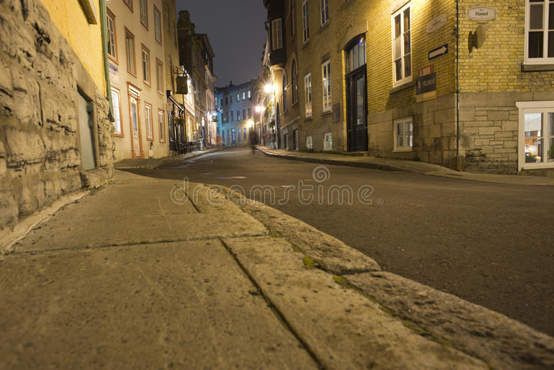 Quebec city night view royalty free stock photos