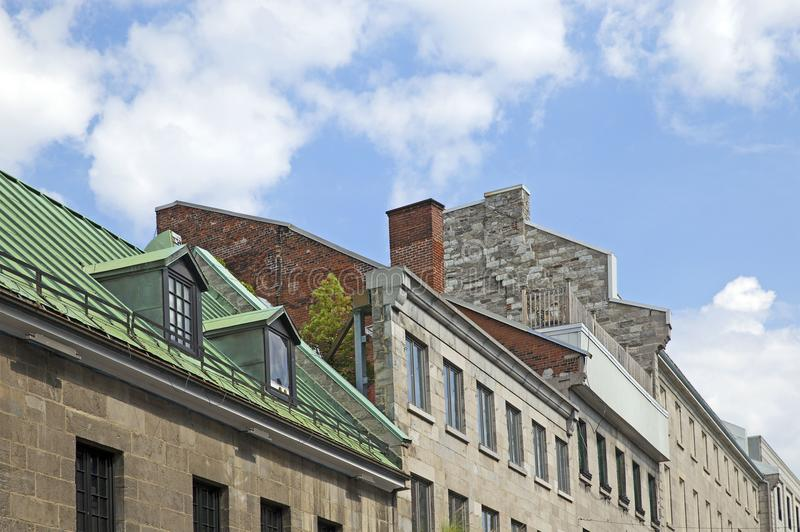 Quebec city roof royalty free stock photo