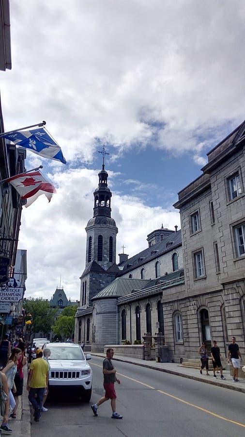 Quebec City velho fotografia de stock royalty free