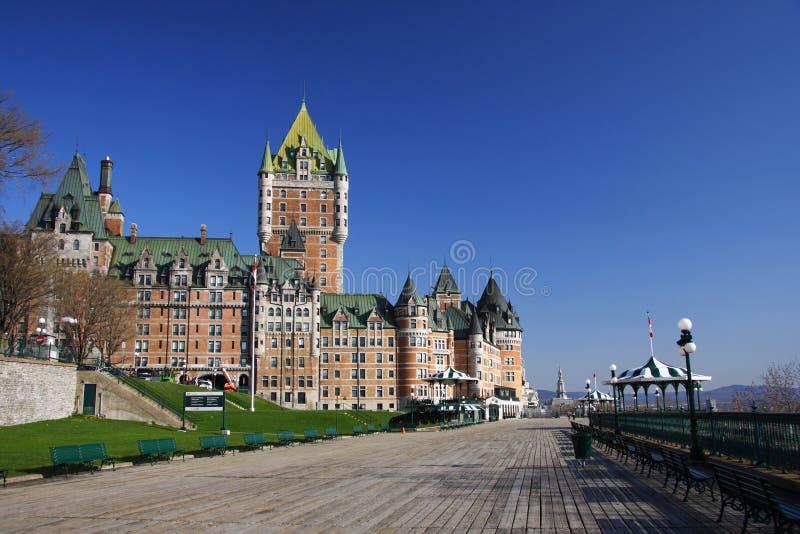 Quebec- Citygrenzstein lizenzfreie stockfotografie