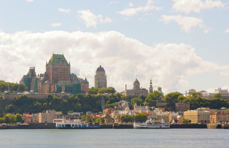 Quebec- CitySkyline stockbilder
