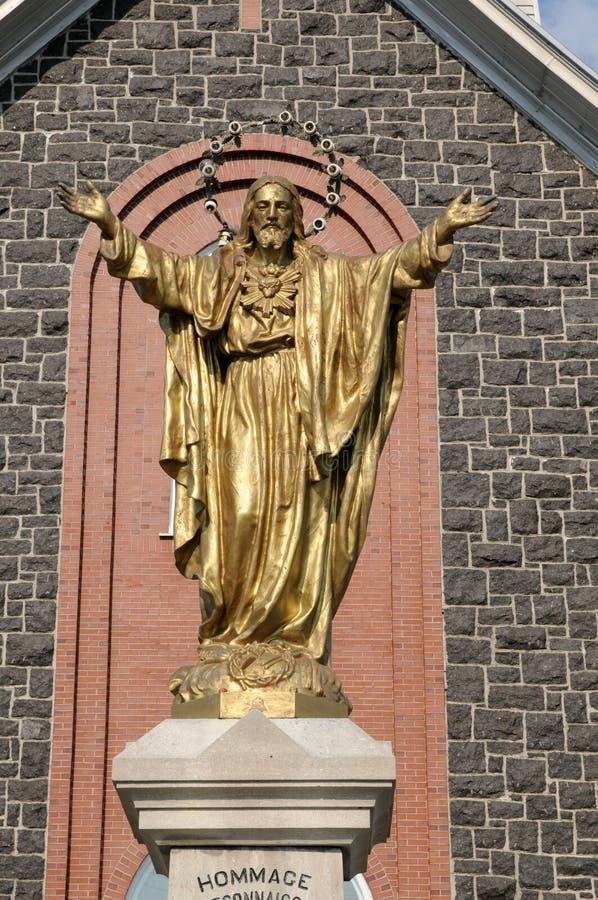 Quebec, de historische kerk van Heilige Bruno stock afbeelding
