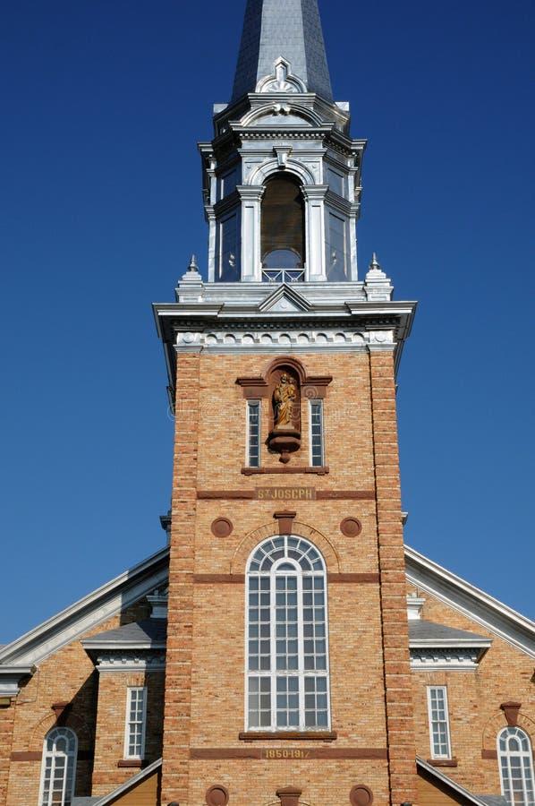 Quebec, de historische kerk van Tracadieche carleton stock foto's