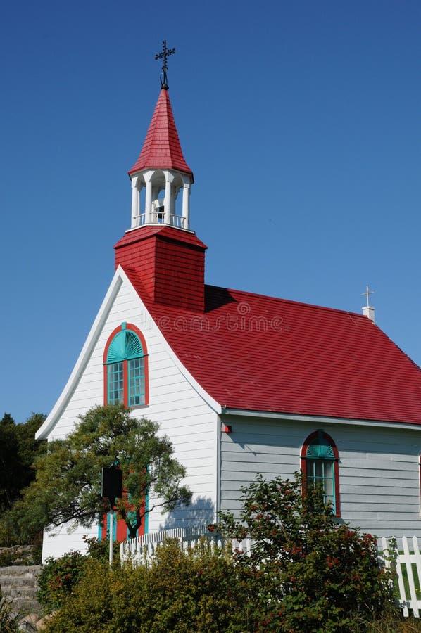 Quebec dziejowa kaplica Tadoussac obraz stock
