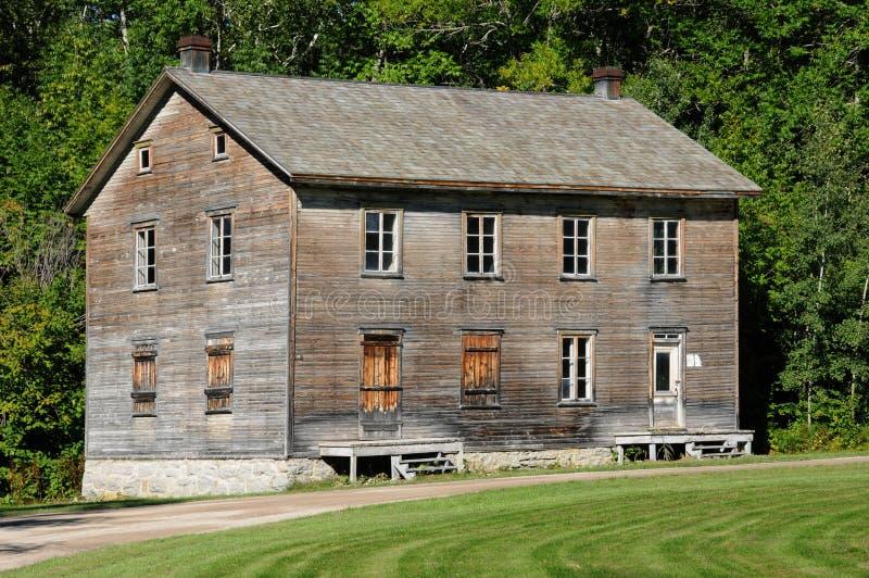 Quebec dziejowa wioska Val Jalbert obraz royalty free