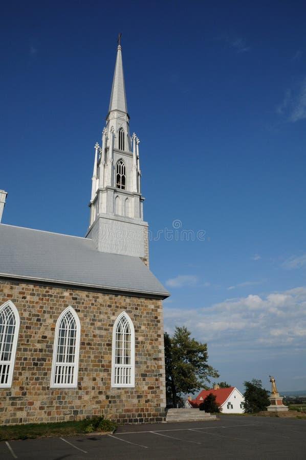 Quebec dziejowy kościół święty Denis w Basu świętym Laure zdjęcie royalty free