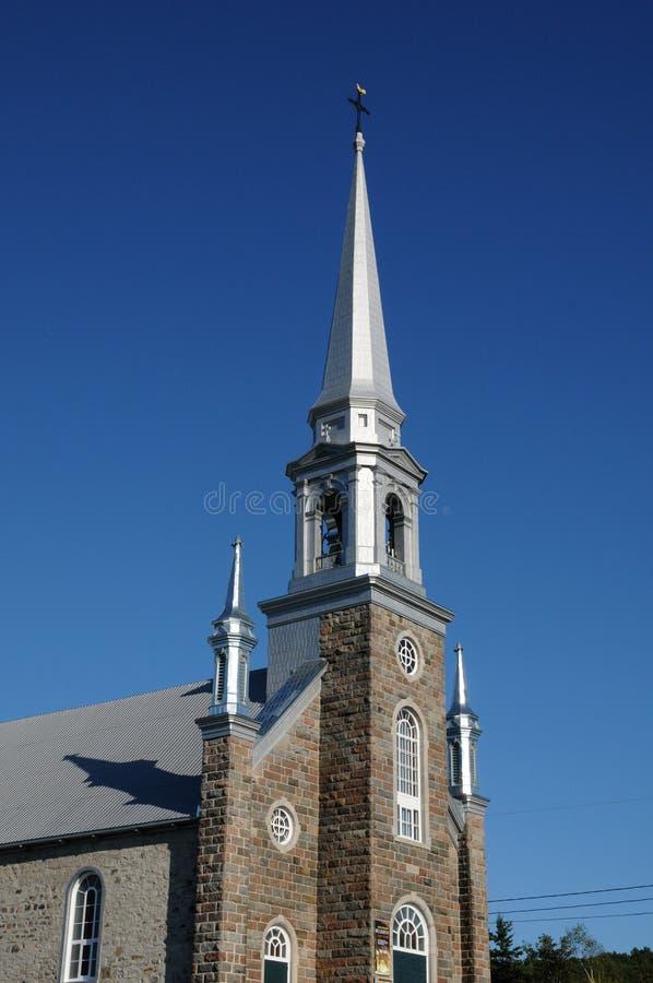 Quebec dziejowy kościół obraz royalty free