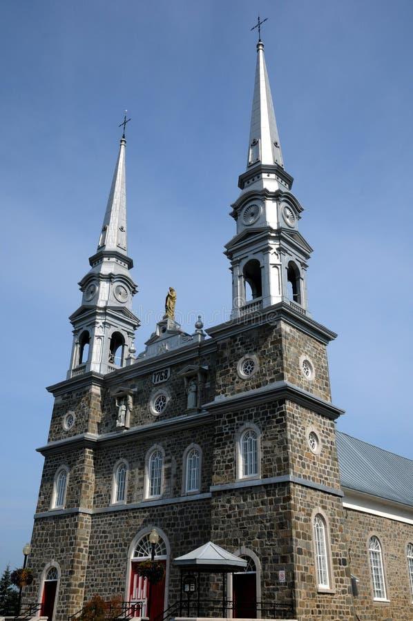 Quebec dziejowy kościół l wysepki sura mer obrazy royalty free