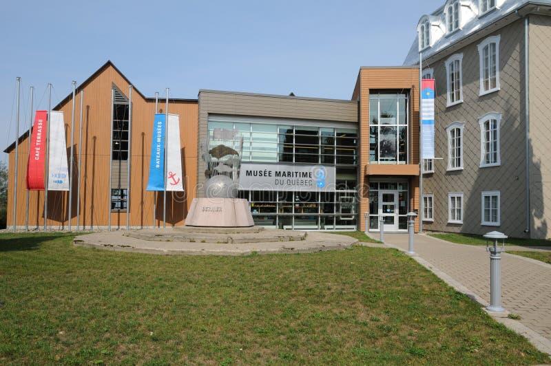 Quebec dziejowy morski muzeum L wysepki sura mer fotografia stock