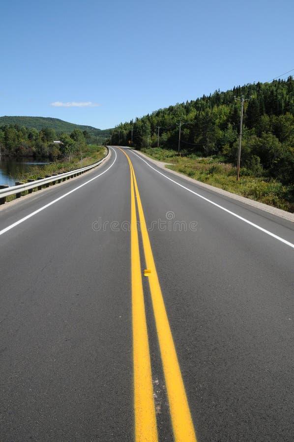 Quebec, eine Straße im Heiligen Simeon stockfoto