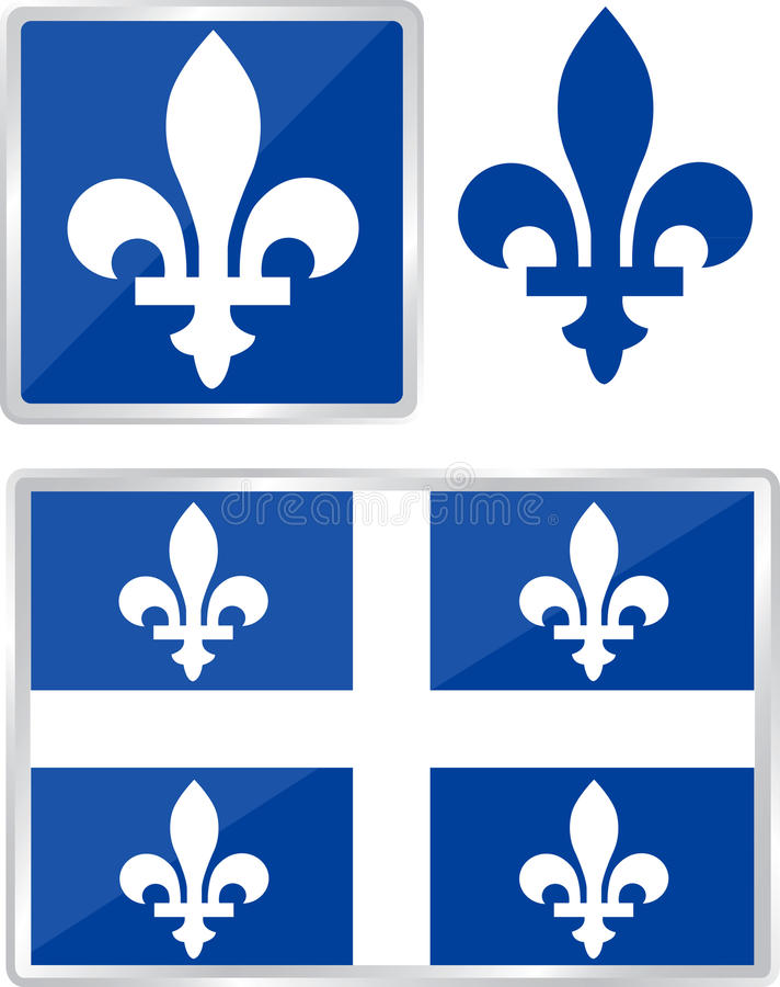Quebec emblem royalty free illustration