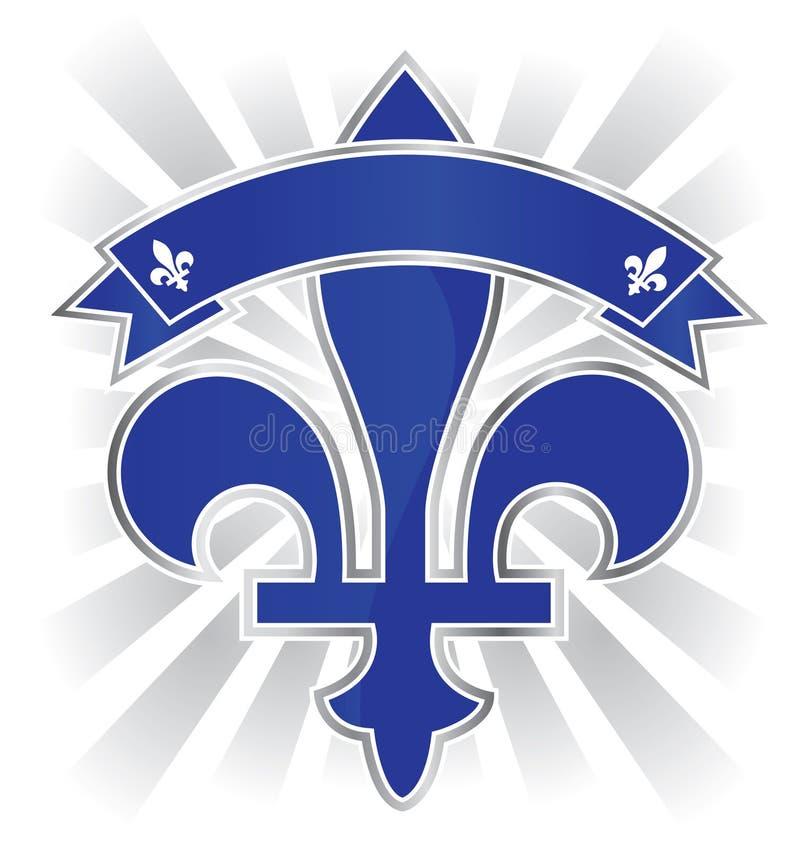 Quebec emblemat ilustracja wektor