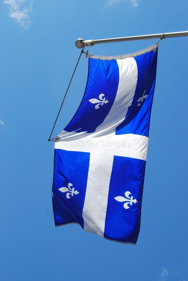 Quebec flaga zdjęcie stock
