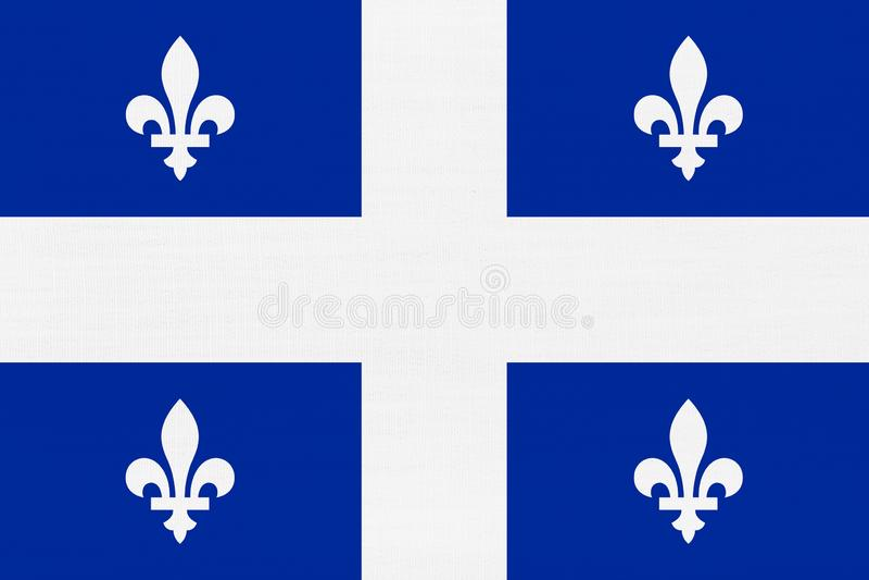 Quebec flagga royaltyfri bild