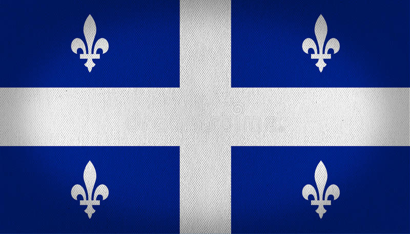 Quebec flagga vektor illustrationer