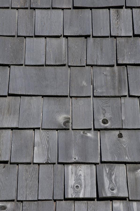 Quebec, hölzerne Fliesen auf dem Maison Lamontagne in Rimouski lizenzfreies stockbild