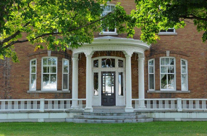 Quebec, hölzerne Fliesen auf dem Maison Lamontagne in Rimouski lizenzfreie stockfotografie