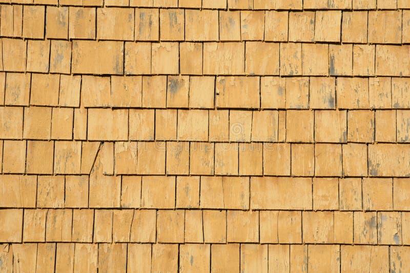 Quebec, hölzerne Fliesen auf einer Wand eines Hauses lizenzfreie stockfotos