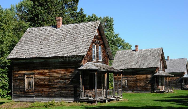 Quebec, het historische dorp van Val Jalbert stock fotografie