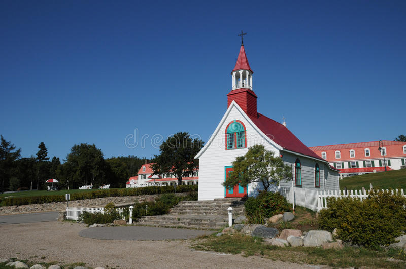 Quebec, the historical chapel of Tadoussac royalty free stock images