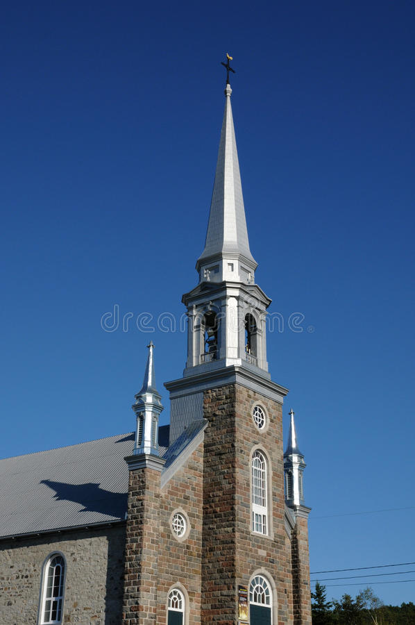 Quebec, the historical church of royalty free stock image