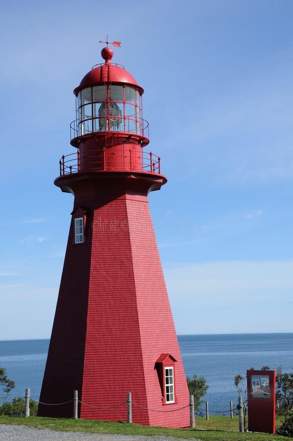 Quebec latarnia morska los angeles Martre w Gaspesie obraz royalty free