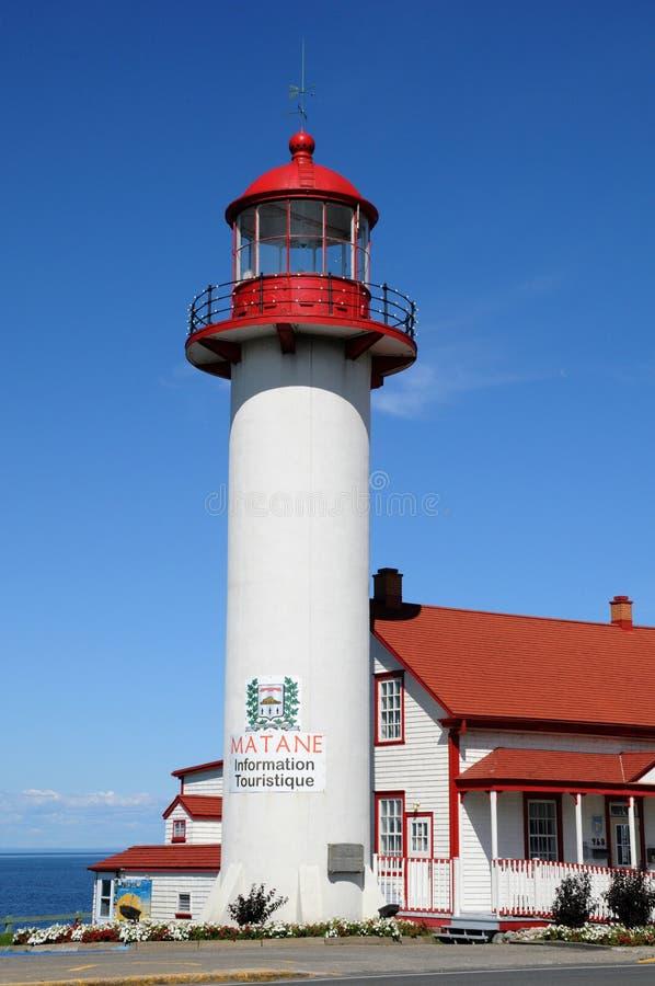 Quebec latarnia morska Matane w Gaspesie zdjęcia royalty free