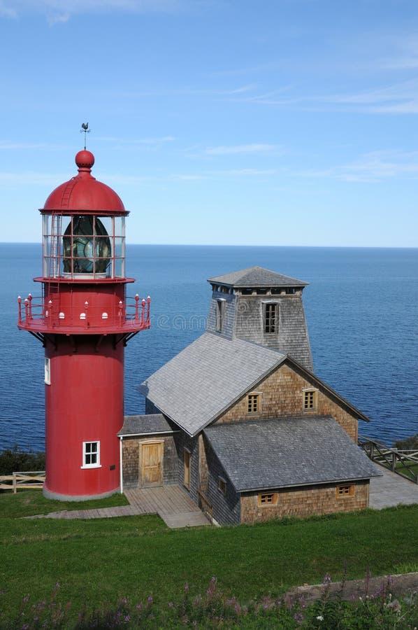 Quebec latarnia morska Pointe los angeles Renommee w Gaspesie zdjęcie royalty free