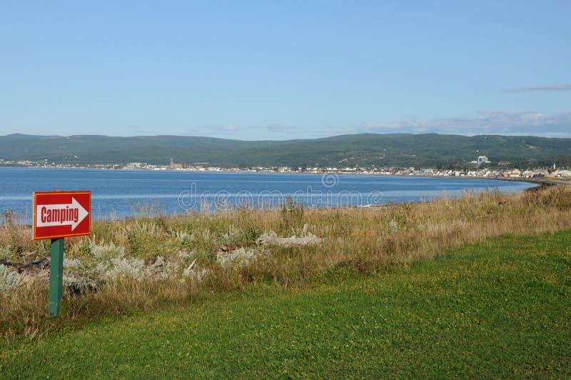 Quebec mała wioska nakrętki gadka w Gaspésie obrazy royalty free