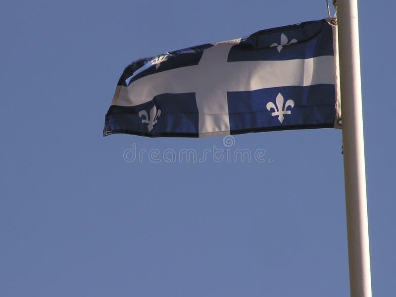 Download Quebec-Markierungsfahne stockfoto. Bild von provinz, windig - 43690