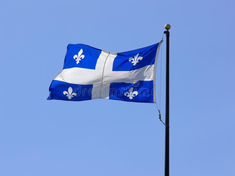 Quebec-Markierungsfahne lizenzfreie stockfotografie