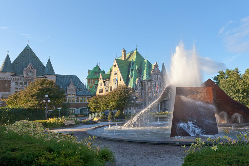 Quebec Miasto Gare Du Palais dworzec Kanada obraz royalty free