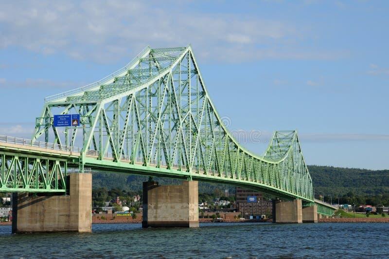 Quebec most Campbellton obrazy stock