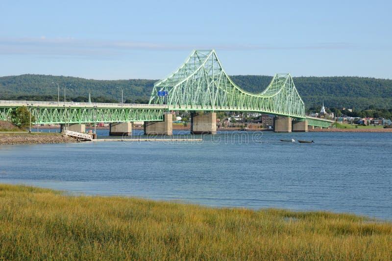 Quebec most między Campbellton i Pointe los angeles Croix zdjęcie royalty free