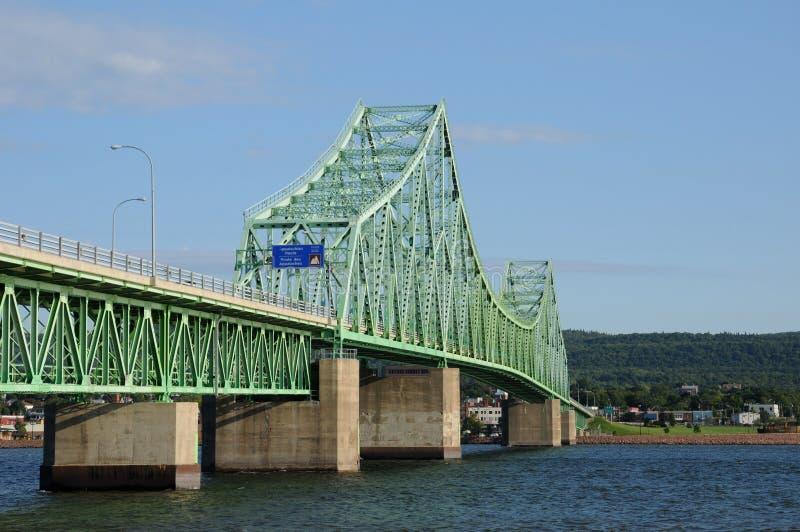 Quebec most między Campbellton i Pointe los angeles Croix obraz royalty free