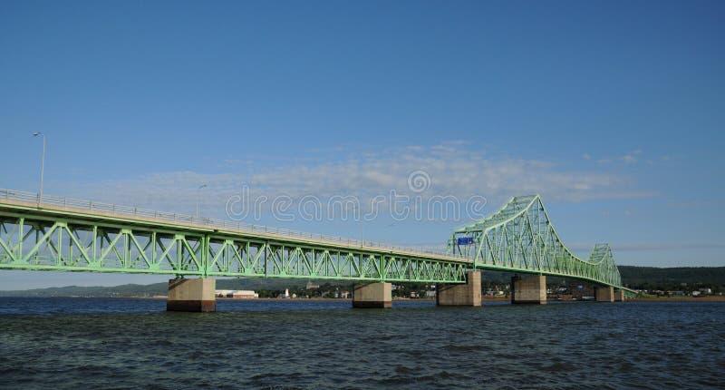 Quebec most między Campbellton i Pointe los angeles Croix fotografia royalty free