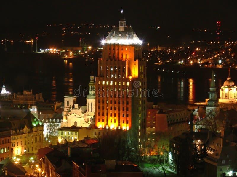 Quebec nocy zdjęcia stock