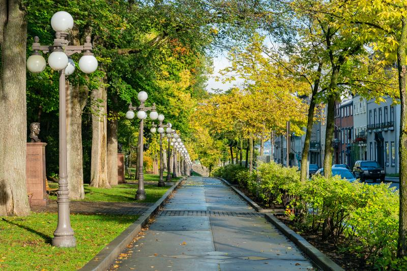 Afternoon view of the old Porte Saint-Louis wall. Quebec, OCT 3: Afternoon view of the old Porte Saint-Louis wall on OCT 3, 2018 at Quebec, Canada stock images