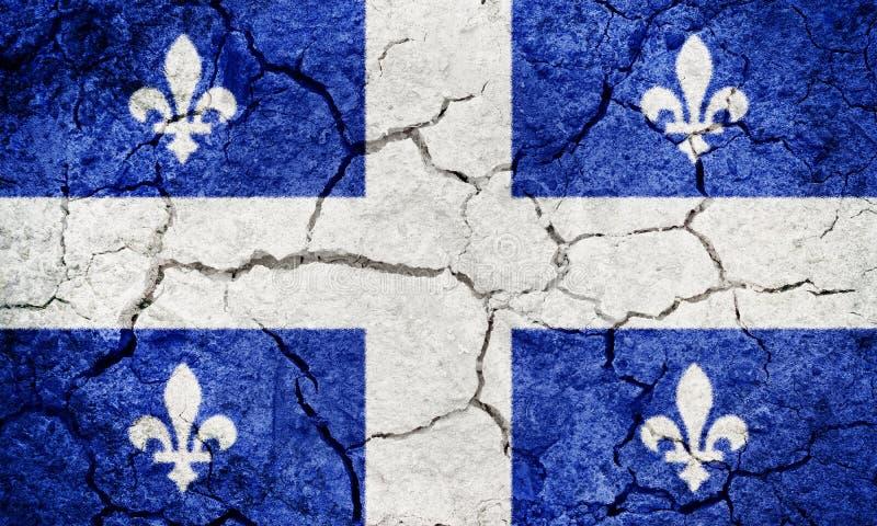 Quebec, provincia de Canadá, bandera foto de archivo