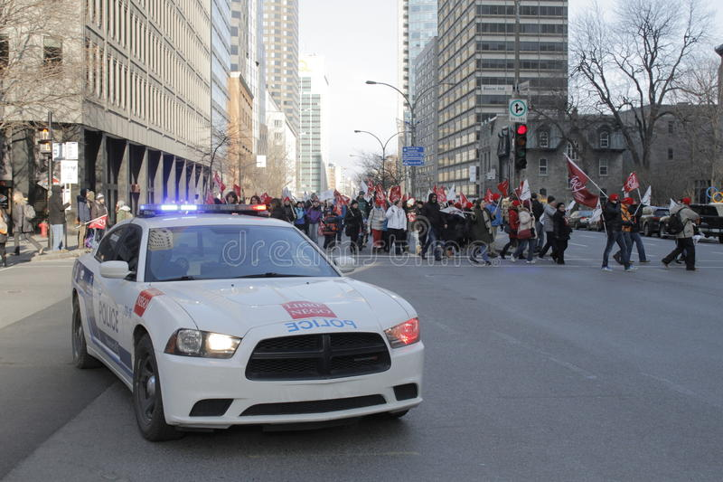 Quebec sektoru publicznego strajki fotografia stock