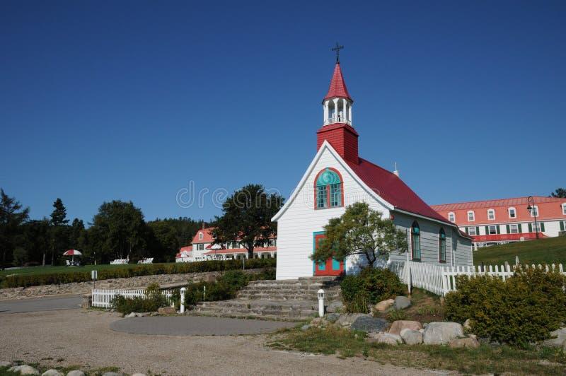 Quebec Tadoussac dziejowa kaplica obrazy royalty free